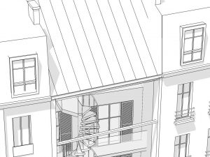 Maison rue de Bigorre Paris 14