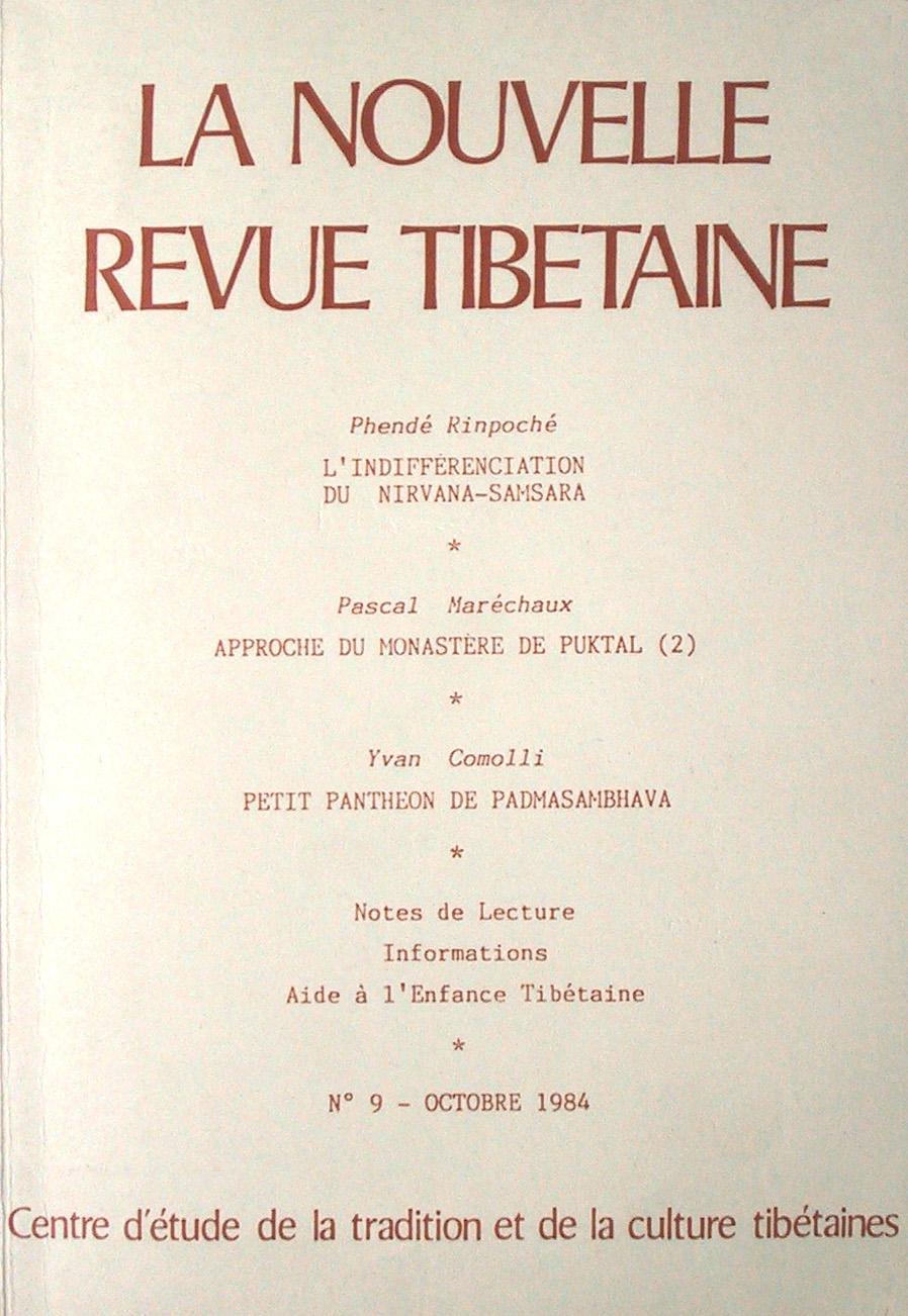 la Nouvelle Revue Tibétaine